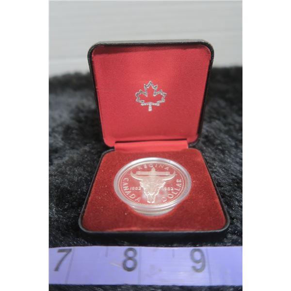 1882 0 1982 Silver Dollar Buffalo Skull