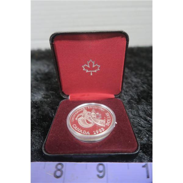 1983 Silver Canadian Dollar Universaide-Edmonton