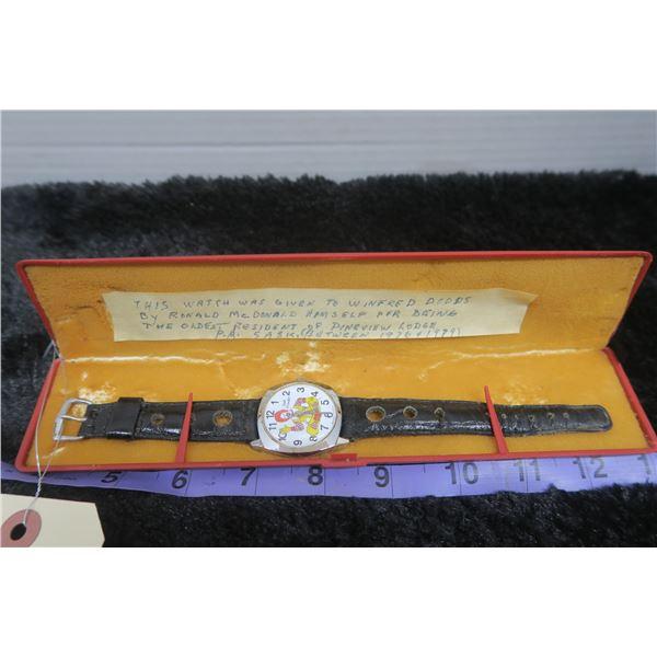 Ronald Mcdonald Swiss Made Watch in Case (Working)