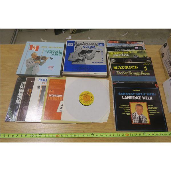 35 LPs Mixed Genres of Vinyl