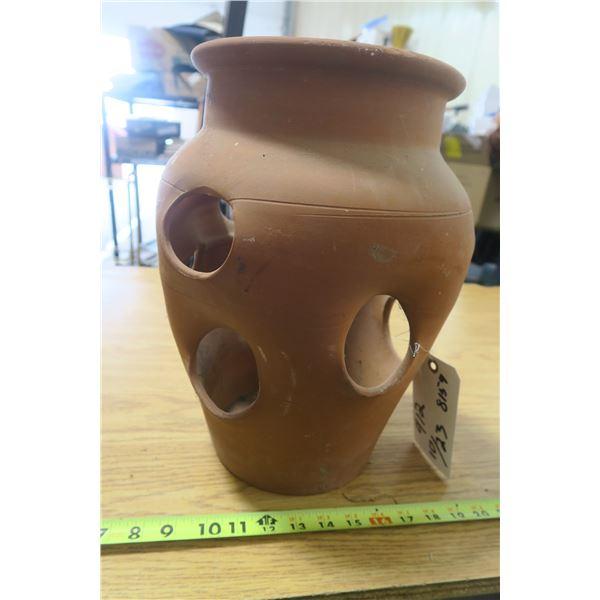 Clay Strawberry Pot