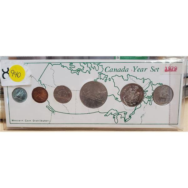 1979 COIN SET W/ RCMP QUARTER