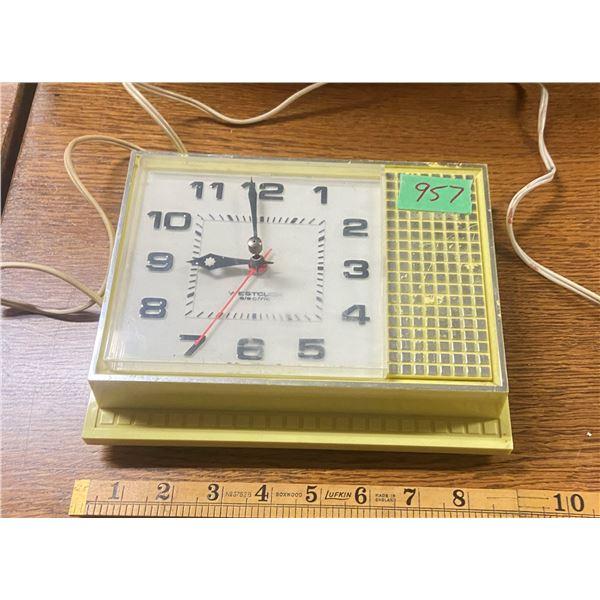 Art deco Westclox electric clock (wired)