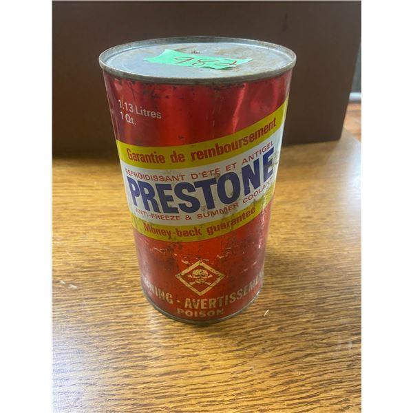 Prestone anti freeze tin - full