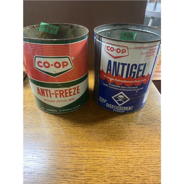 2 1 gallon Co-op anti freeze