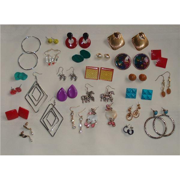 26 pairs of earrings