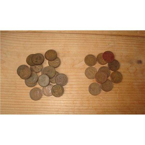Wheat pennies and King George