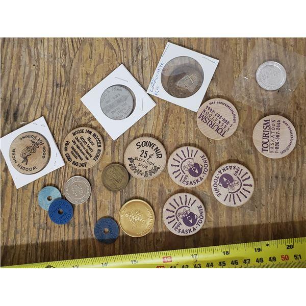 assorted tokens