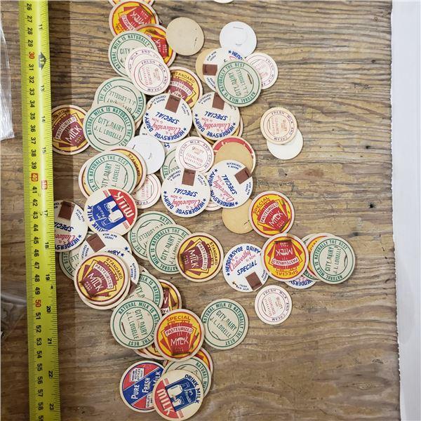 Assorted milk caps