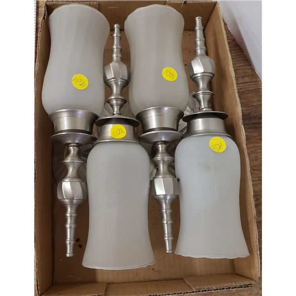 set of 4 wall sconces