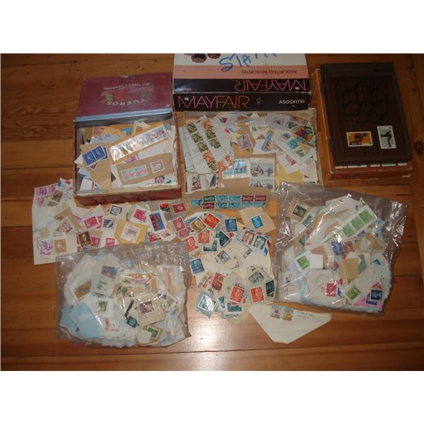 large stamp collection assortment lot
