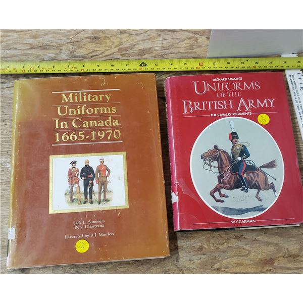 2 books of military uniforms