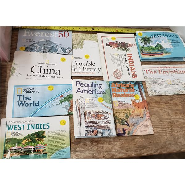 vintage national geographic maps