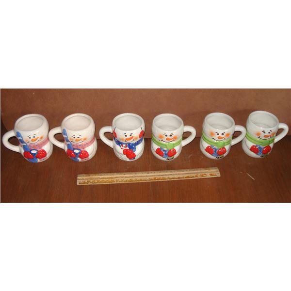 snowman hot chocolate mugs