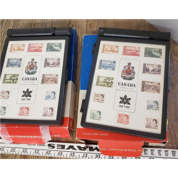 1967 stamp containers with boxes