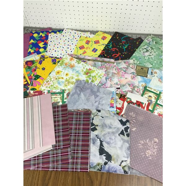 LOT OF VINTAGE WRAPPING PAPER