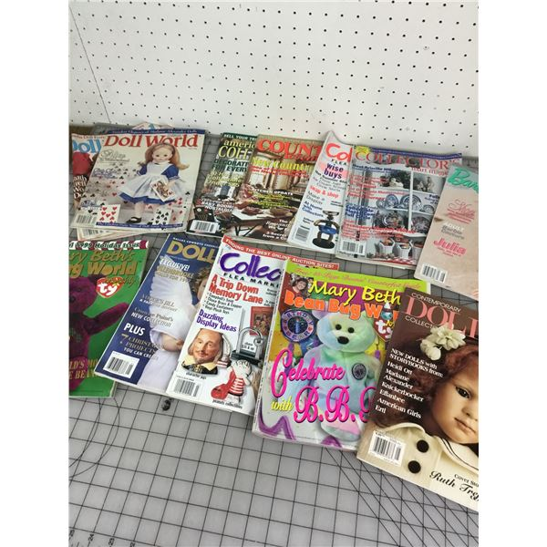 LOT OF DOLL AND COLLECTIBLE RELATED MAGAZINES