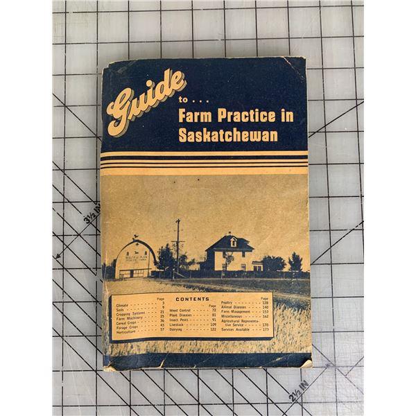 VINTAGE 1948 BOOK FARM PRACTICE IN SASKATCHEWAN