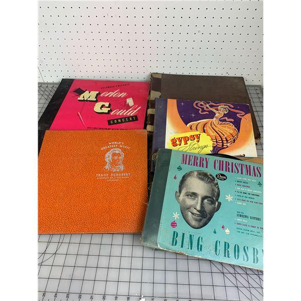 ANTIQUE GRAMOPHONE RECORD BOOKS