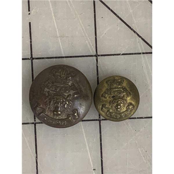 ANTIQUE NWMP NORTH WEST MOUNTED POLICE BUTTONS