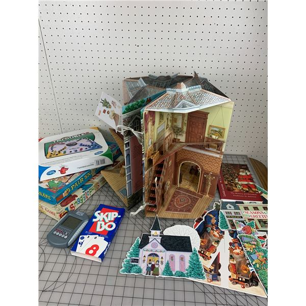 POP UP PAPER DOLL HOUSE GAMES ETC