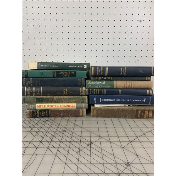 LOT OF VINTAGE AND ANTIQUE ENGINEERING BOOKS