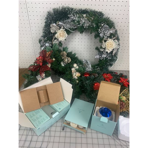 CHRISTMAS WREATHES AND PARTYLITE