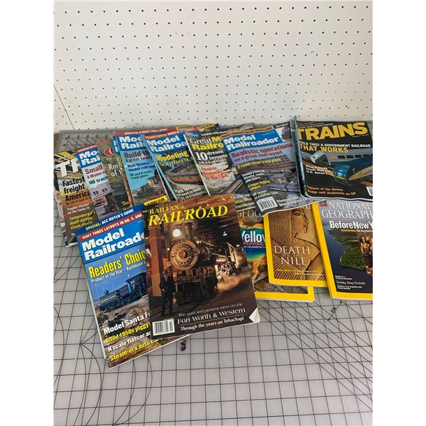 RAILROAD AND NATIONAL GEOGRAPHIC MAGAZINES