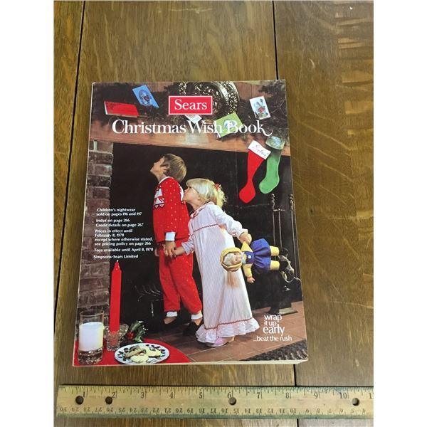 VINTAGE SEARS WISH BOOK CHRISTMAS 1977