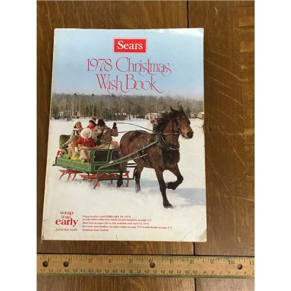 VINTAGE SEARS WISH BOOK CHRISTMAS 1978