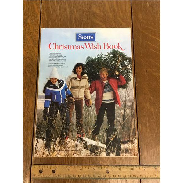 VINTAGE SEARS WISH BOOK CHRISTMAS 1981