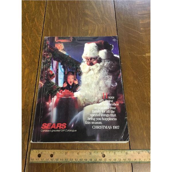 VINTAGE SEARS WISH BOOK CHRISTMAS 1987