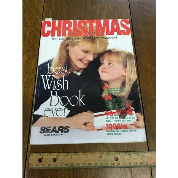 VINTAGE SEARS WISH BOOK CHRISTMAS 1989