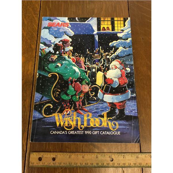 VINTAGE SEARS WISH BOOK CHRISTMAS 1990