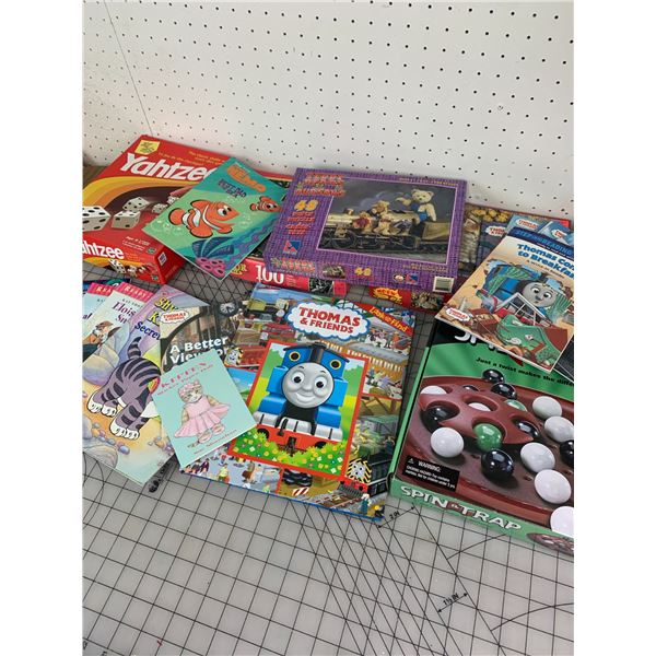 LOT OF PUZZLES GAMES AND BOOKS