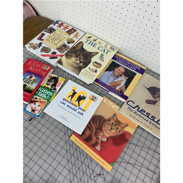 LOT OF BOOKS CATS AND CRAFT RELATED