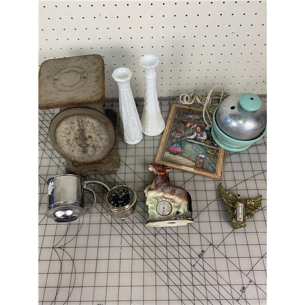 MISC LOT SCALE THERMOMETER ETC
