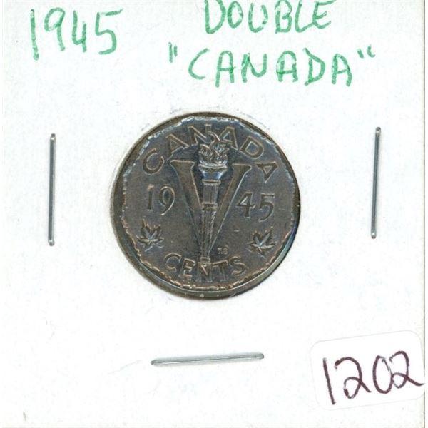 """1945 nickel Double """"Canada"""""""