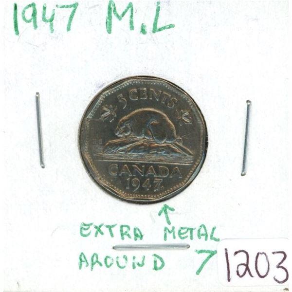 1947 nickel M.L