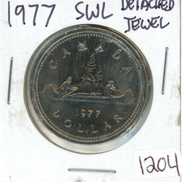 1977 Dollar Coin SWL detached jewel