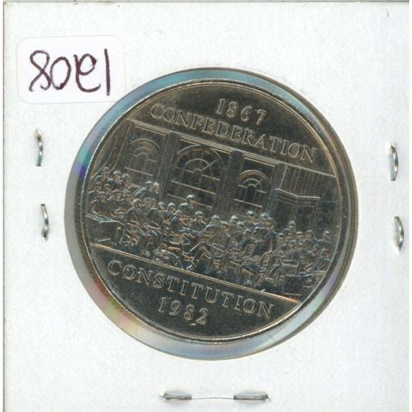 1982 dollar Coin Constitution  large jewel