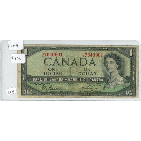 1954 1 dollar bill