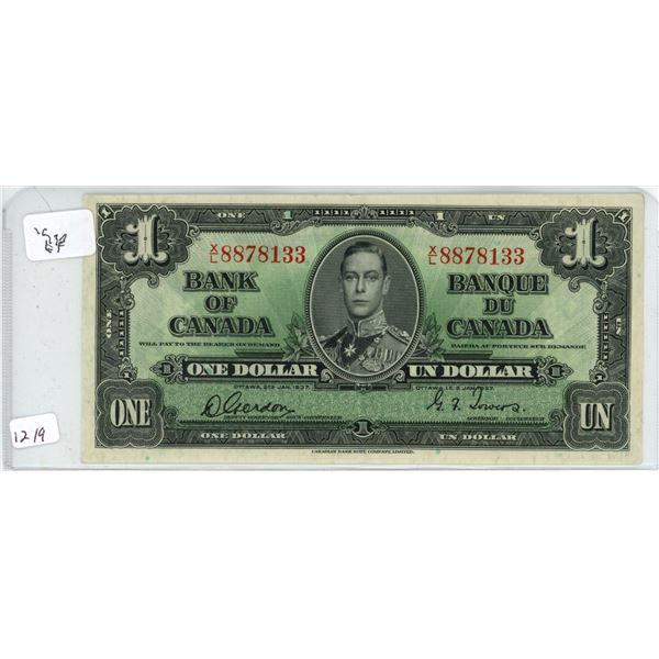 1937 1 dollar bill