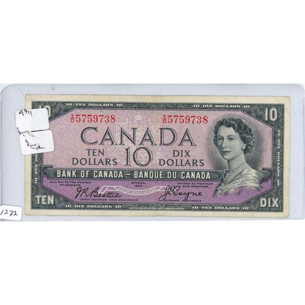 1954 10 dollar bill