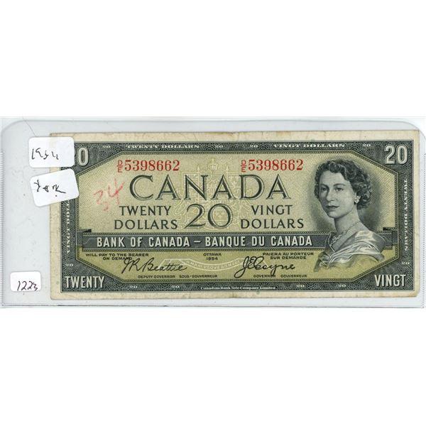 1954 20 dollar bill