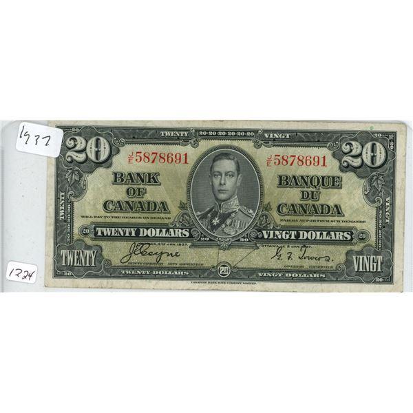 1937 20 dollar bill