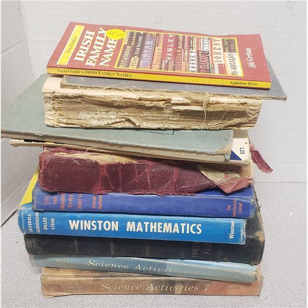 large lot of older books Irish family names etc