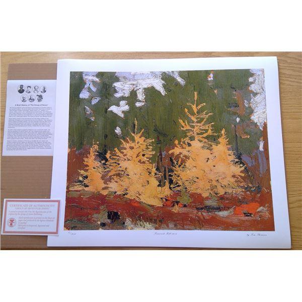 Tamarack Fall 1915 24' x 20' by Tom Thomson