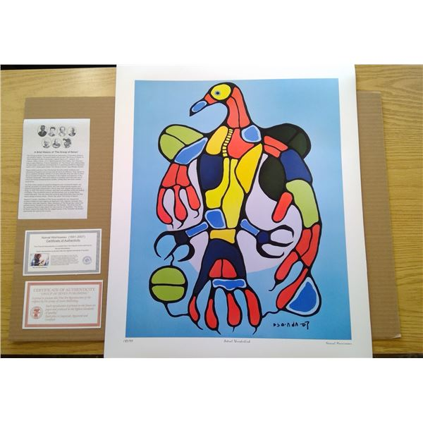Astral Thunderbird by Norval Morrisseau 24' x 20'