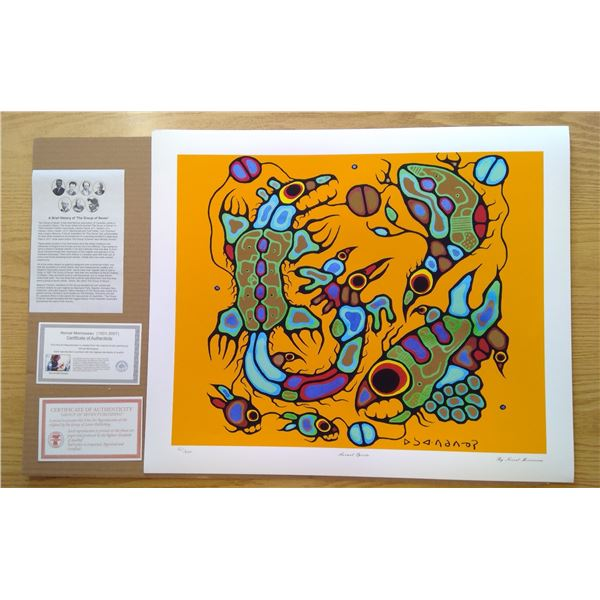 Animal Spirits by Norval Morrisseau 24'x20'